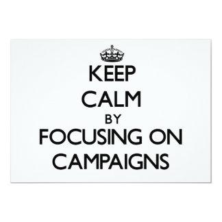 Guarde la calma centrándose en campañas invitacion personal