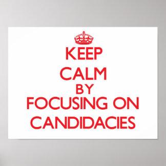 Guarde la calma centrándose en candidaturas impresiones