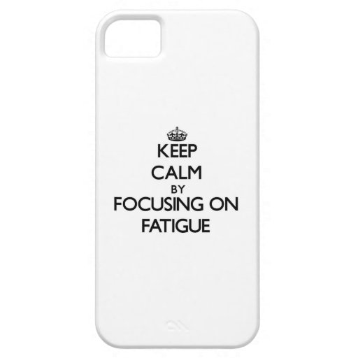 Guarde la calma centrándose en cansancio iPhone 5 carcasas