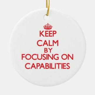 Guarde la calma centrándose en capacidades adornos de navidad