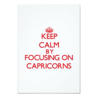 """Guarde la calma centrándose en Capricorns Invitación 3.5"""" X 5"""""""