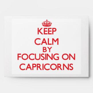 Guarde la calma centrándose en Capricorns