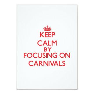 Guarde la calma centrándose en carnavales anuncio