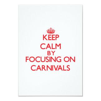 Guarde la calma centrándose en carnavales invitacion personal