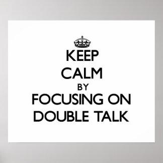 Guarde la calma centrándose en charla doble poster