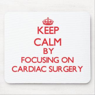 Guarde la calma centrándose en cirugía cardiaca tapetes de ratones