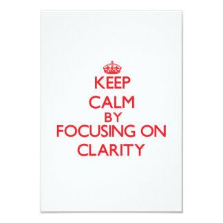 Guarde la calma centrándose en claridad invitación 8,9 x 12,7 cm