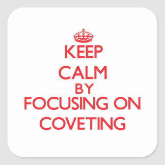 Guarde la calma centrándose en codiciar colcomanias cuadradas
