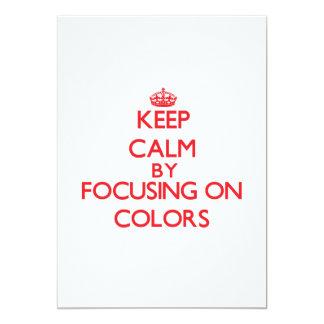 """Guarde la calma centrándose en colores invitación 5"""" x 7"""""""