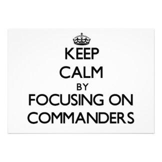 Guarde la calma centrándose en comandantes