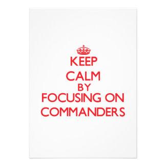 Guarde la calma centrándose en comandantes anuncio personalizado