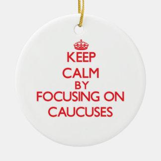 Guarde la calma centrándose en comités adornos de navidad