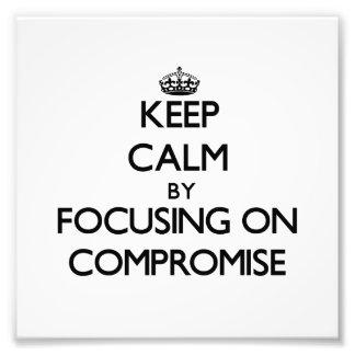 Guarde la calma centrándose en compromiso