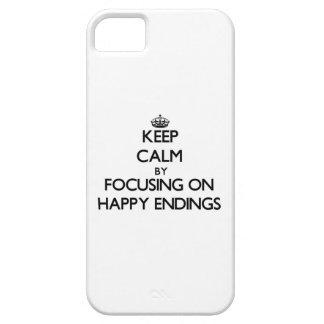 Guarde la calma centrándose en CONCLUSIONES iPhone 5 Protector