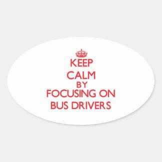 Guarde la calma centrándose en conductores del colcomanias de óval