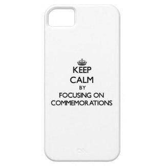 Guarde la calma centrándose en conmemoraciones iPhone 5 fundas