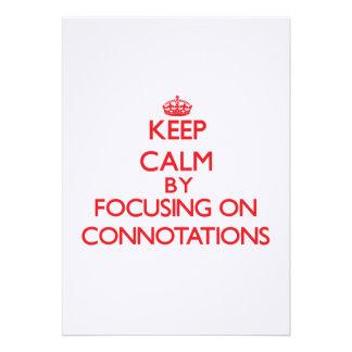 Guarde la calma centrándose en connotaciones comunicados personalizados