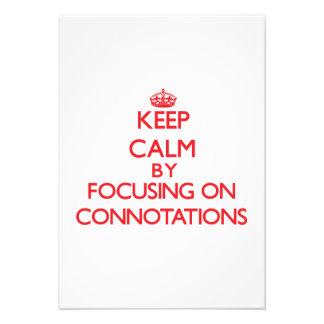 Guarde la calma centrándose en connotaciones comunicado personalizado