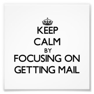 Guarde la calma centrándose en conseguir el correo fotografia