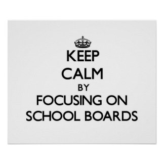 Guarde la calma centrándose en consejos escolares impresiones