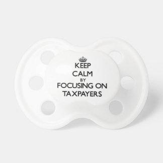 Guarde la calma centrándose en contribuyentes