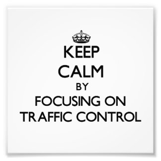 Guarde la calma centrándose en control de tráfico