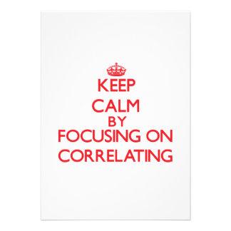 Guarde la calma centrándose en correlacionar comunicados personales