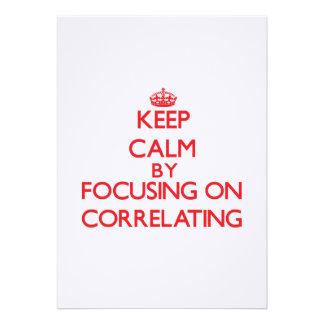 Guarde la calma centrándose en correlacionar comunicado