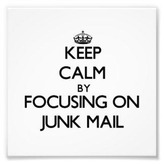 Guarde la calma centrándose en correo basura
