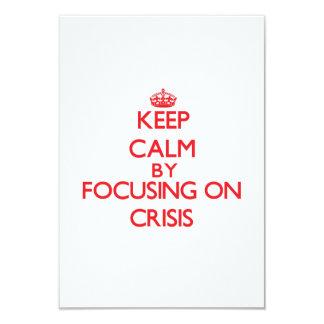 """Guarde la calma centrándose en crisis invitación 3.5"""" x 5"""""""