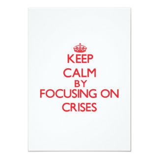 """Guarde la calma centrándose en crisis invitación 5"""" x 7"""""""