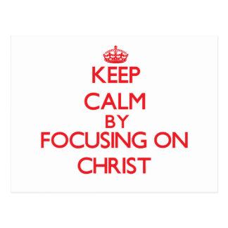 Guarde la calma centrándose en Cristo Postal