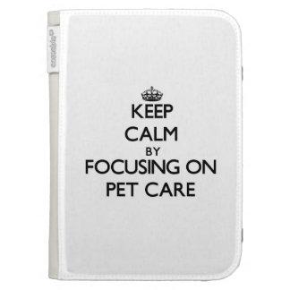 Guarde la calma centrándose en cuidado de animales