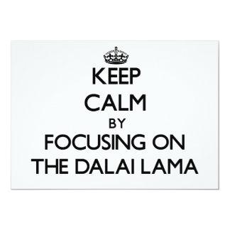 Guarde la calma centrándose en Dalai Lama Comunicado Personal