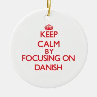 Guarde la calma centrándose en danés adornos de navidad