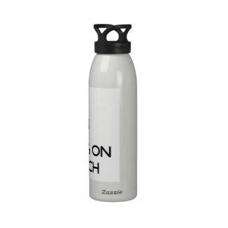 Guarde la calma centrándose en de alta tecnología botella de agua