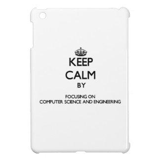 Guarde la calma centrándose en de informática y