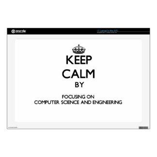 Guarde la calma centrándose en de informática y calcomanía para 43,2cm portátil