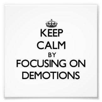 Guarde la calma centrándose en descensos de rango