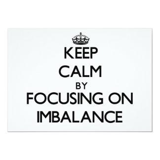 """Guarde la calma centrándose en desequilibrio invitación 5"""" x 7"""""""