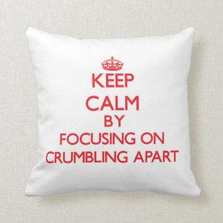 Guarde la calma centrándose en desmenuzar aparte almohada