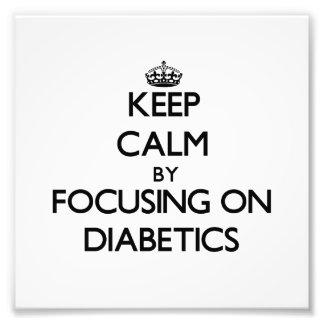 Guarde la calma centrándose en diabéticos