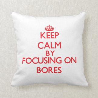 Guarde la calma centrándose en diámetros almohadas