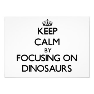 Guarde la calma centrándose en dinosaurios
