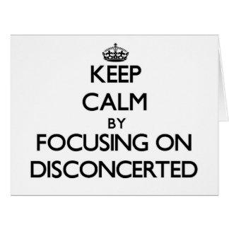 Guarde la calma centrándose en Disconcerted Tarjeta De Felicitación Grande