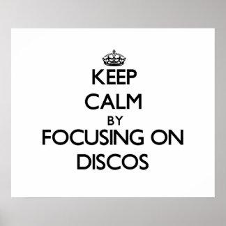 Guarde la calma centrándose en discos impresiones