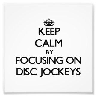 Guarde la calma centrándose en discs jockeyes