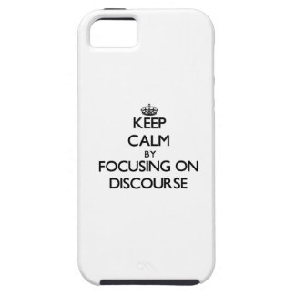 Guarde la calma centrándose en discurso iPhone 5 protector