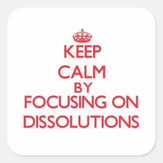 Guarde la calma centrándose en disoluciones colcomanias cuadradas personalizadas