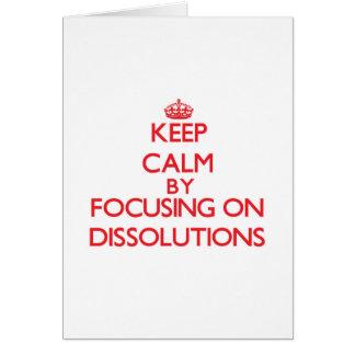 Guarde la calma centrándose en disoluciones tarjetón